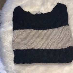 Tan and black alpaca sweater